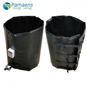 55 Gallon Electric Drum Heater Blankets with Adjustable Thermostat and Overheat Protection