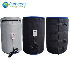 Customized Heating Blankets for 55 Gallon Barrels with Thermostat and Overheat Protection