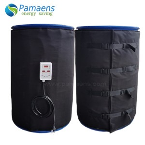 Durable Black Drum Heating Blanket with Adjustable Thermostat Used for Heating Milk, Honey, Oil without Pollution