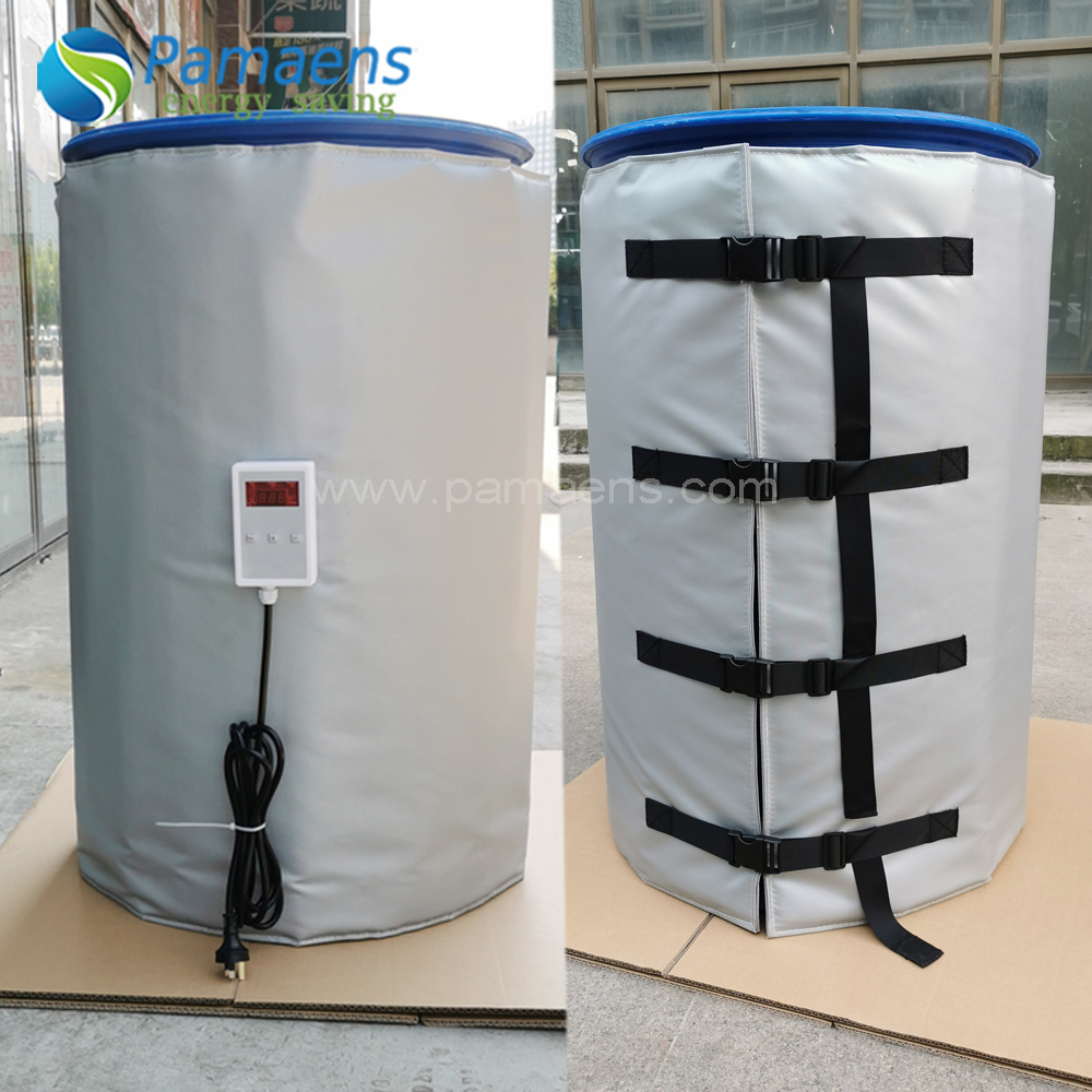 Customized 55 Gal Oil Drum Heater Blanket with Temperature Adjustable Featured Image