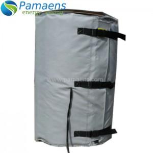 Jaquetas de aquecimento de alta qualidade para tambor, cilindro e tanque com termostato