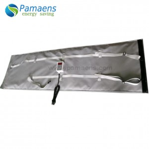 Pipe Heating Belt for Curing FRP Tube Curing Heater Blanket Mat with Thermostat and Overheat Protection