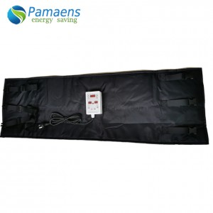 Custom Removable Drum Tank blanket Heater Jacket with Adjustable Thermostat