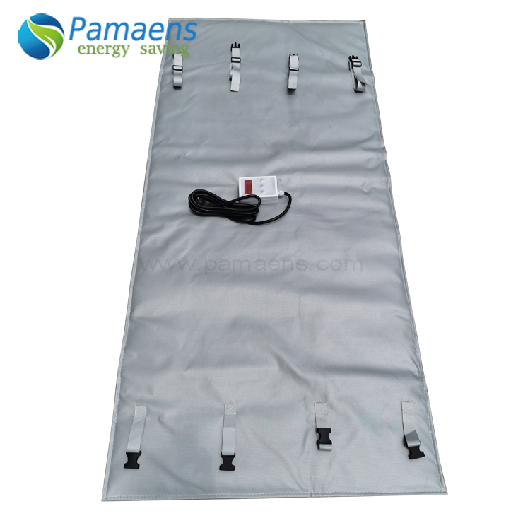 Chinese Factory Made Flexible Oil Drum Heater Blanket with Temperature Controller Featured Image