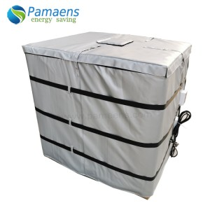 High Quality Water/Oil Proof Plastic Tote Heating Blanket with Digital Thermostat and Overheating Protection