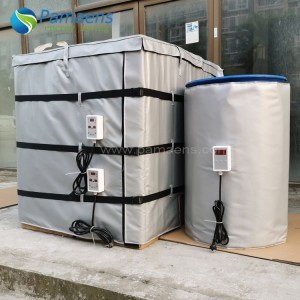 Customized 55 Gallon Metal Drum Heater Blanket with Controller and Overheat Protection