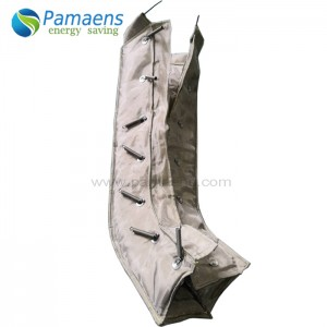 Reusable and Removable Exhaust Pipe Insulation Blanket with Temperature Resistance More Than 1000 Deg C