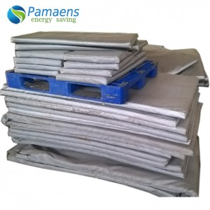Grey / White Fiberglass Heat Resistant Thermal Insulation Pads