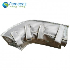 High Temperature Resistance Elbow Tee Valve Cover Insulation Flexible Removable Insulation with SGS