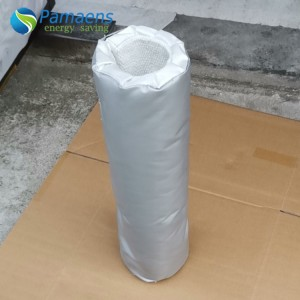 Customized Air Duct Removable Insulation Covers /Jacket, Silicon Coated Fiberglass Pipe Insulation