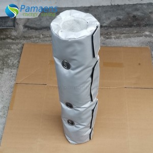 Custom Fiberglass Thermal Cover Removable Insulation Jackets for Pipes, Flanges and Bellow