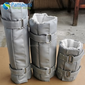 Customized Fiberglass Removable Pipe Thermal Insulation Jacket & Covers with Fast Delivery