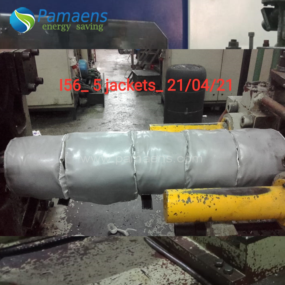 High Temperature Removable and Reusable Industrial Insulation Jacket Cover for Injection Machine Featured Image