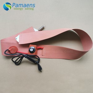 High Quality 4 x 70 Inch Silicone Heater Belt with Adjustable Thermostat Supplied by Manufacturer Directly