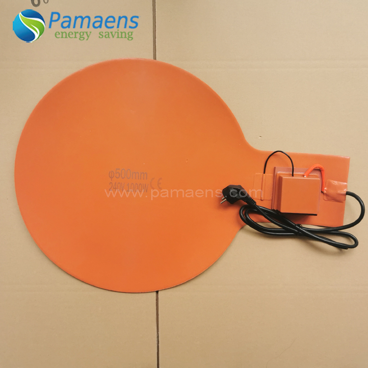 High Quality Flexible Silicone Rubber Heater Bottom Heater for Drum Chinese Factory Supplied Featured Image